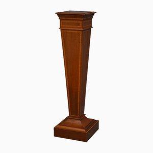 Antique Edwardian Mahogany Inlaid Torchere Pedestal