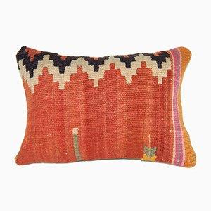 Rostfarbener türkischer Kelim Kissenbezug von Vintage Pillow Store Contemporary