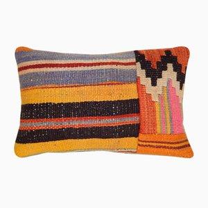 Federa in lana intrecciata di Vintage Pillow Store Contemporary