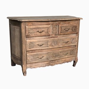 Antique French Bleached Oak Chest of Drawers