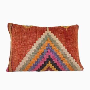 Housse de Coussin Kilim Style Bohème à Broderie Verte de Vintage Pillow Store Contemporary