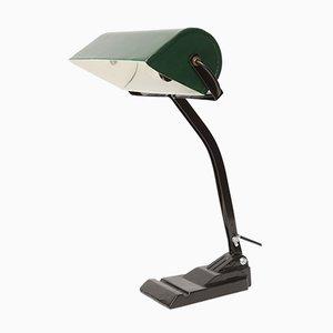 Lámpara de oficina polaca de metal de Bracia Borkowscy S.A., años 30