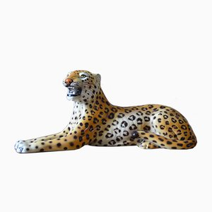 Ceramic Leopard Sculpture from Ronzan, 1960s
