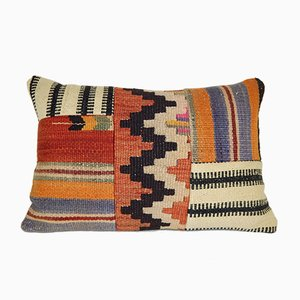 Funda de cojín hecha con patchwork de kilims de Vintage Pillow Store Contemporary