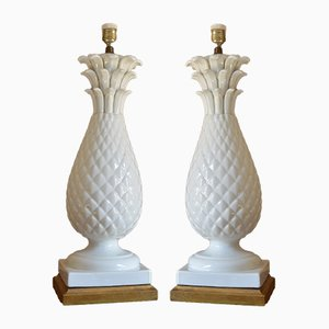 Spanish Ceramic Table Lamps from Manises, 1960s, Set of 2
