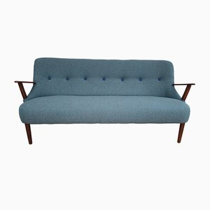 Danish Beech 2.5-Seater Sofa, 1960s