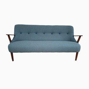 Sofá de 2.5 plazas danés de haya, años 60