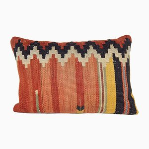 Colorful Woven and Embroidered Textile Pillow Cover from Vintage Pillow Store Contemporary