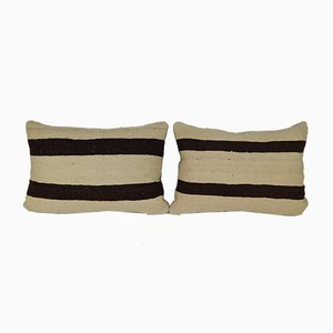 Turkish Oushak Wool Rug Pillow Cover from Vintage Pillow Store Contemporary, Set of 2