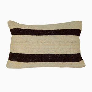 Kelim Kissenbezug mit Streifenmuster von Vintage Pillow Store Contemporary