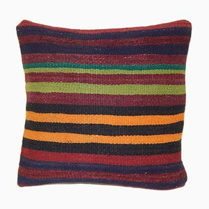 Striped Turkish Kilim Pillow Cover from Vintage Pillow Store Contemporary