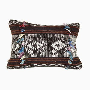 Brown Goat Hair Kilim Pillow with Traditional Decor from Vintage Pillow Store Contemporary