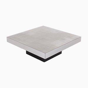 Mesa de centro de aluminio de Willy Rizzo, años 70