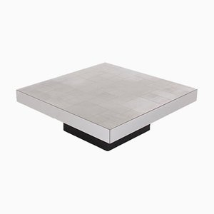 Table Basse en Aluminium par Willy Rizzo, 1970s