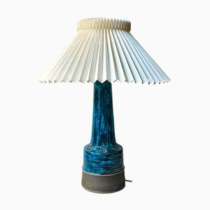 Lampe de Bureau en Céramique Bleu Rimini par Aldo Londi pour Bitossi, 1960s
