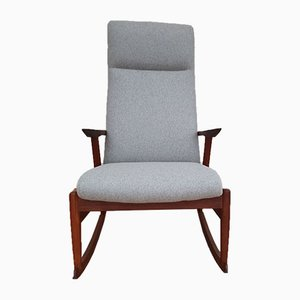 Rocking Chair Scandinave en Teck, 1960s