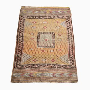 Vintage Turkish Multi-Colored Wool Fethiye Cicim Kilim Rug, 1940s