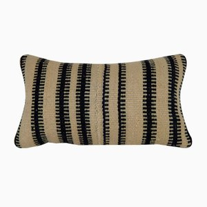 Wool Lumbar Pillow Cover with Mudcloth Design from Vintage Pillow Store Contemporary