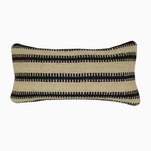 Turkish Wool Kilim Pillow Case with Striped Rustic Pattern from Vintage Pillow Store Contemporary