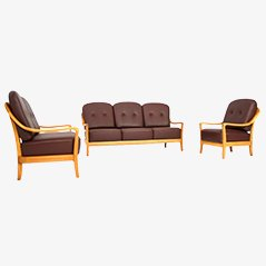 Vintage Lounge Chairs and Sofa Set from Komfort