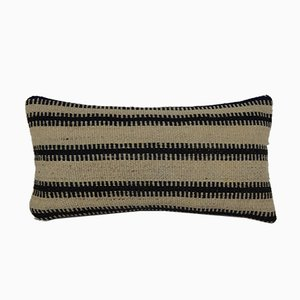 Striped Lumbar Kilim Pillow Cover with Rustic Anatolian Decor from Vintage Pillow Store Contemporary