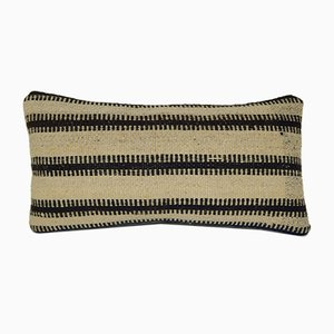 Striped Turkish Lumbar Kilim Pillow Cover from Vintage Pillow Store Contemporary