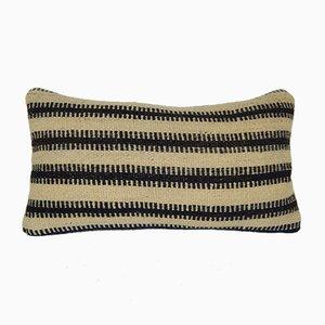 Gestreifter Kelim Wollkissenbezug von Vintage Pillow Store Contemporary