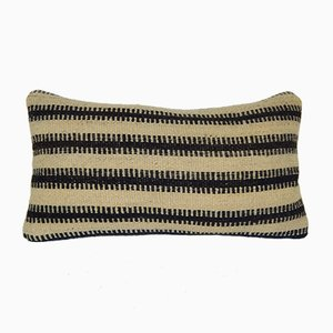 Striped Wool Kilim Throw Pillow Cover from Vintage Pillow Store Contemporary