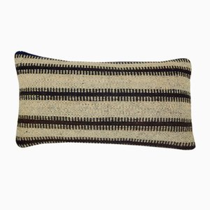 Turkish Hand-Woven Striped Kilim Pillow Cover from Vintage Pillow Store Contemporary
