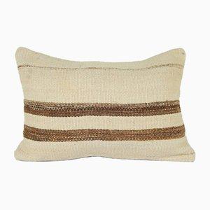 Gestreifter anatolischer Kelim Kissenbezug aus Baumwolle von Vintage Pillow Store Contemporary