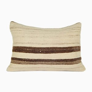 Turkish Striped Wool Kilim Pillow Cover from Vintage Pillow Store Contemporary