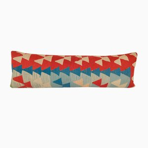 Long Geometric Kilim Lumbar Pillow Cove from Vintage Pillow Store Contemporary