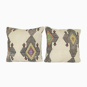 Kelim Kissenbezüge mit traditionellem Muster von Vintage Pillow Store Contemporary, 2er Set