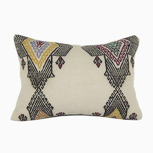 Lumbar Wool Kilim Pillow Cover from Vintage Pillow Store Contemporary