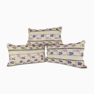Kelim Kissenbezüge mit floralem Muster von Vintage Pillow Store Contemporary, 3er Set