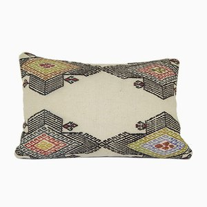 Plain Kilim Lumbar Pillow Cover from Vintage Pillow Store Contemporary