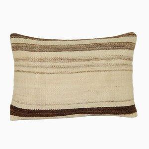 Funda de cojín de kilim en color natural con motivosmud cloth africano de Vintage Pillow Store Contemporary