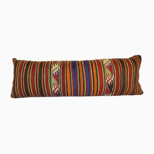 Long Anatolian Striped Kilim Lumbar Pillow Cover from Vintage Pillow Store Contemporary