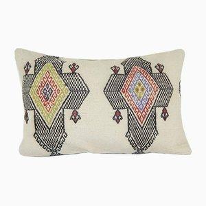 Türkischer Kelim Kissenbezug aus organischer Wolle von Vintage Pillow Store Contemporary