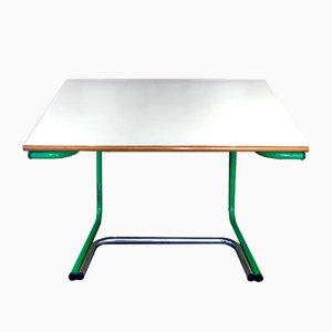 Mesa de dibujo verde era espacial de Joe Colombo para Bieffeplast, años 70