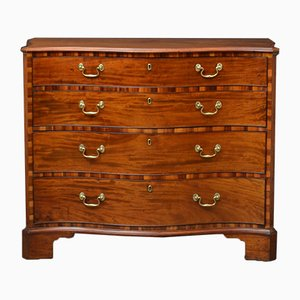 18th Century Mahogany Serpentine Chest of Drawers