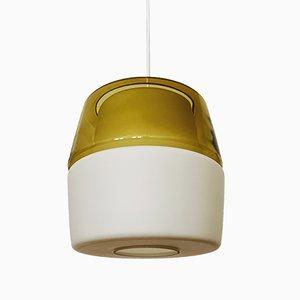Lampada in vetro opalino di Peill & Putzler, anni '50
