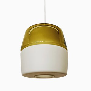 Lampe à Suspension en Verre Opalin de Peill & Putzler, 1950s