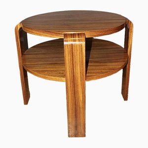 Vintage Art Deco Rosewood Pedestal Table, 1930s