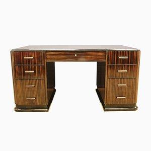 Vintage Art Deco Rosewood Macassar Desk, 1930s