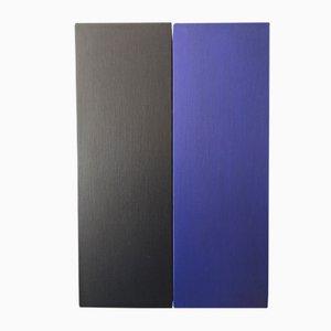 Entwurf für drei Teile in Blau Gemälde von Rolf Hans, 1969
