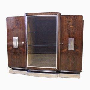 Vintage Art Deco Rosewood Silverware Cabinet, 1930s