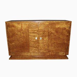 Credenza Art Deco in betulla, anni '30