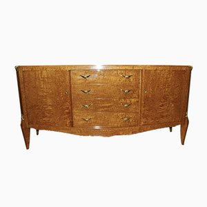 Vintage Art Deco Sycamore Sideboard by Jules Leleu, 1930s