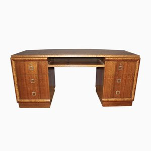 Mid-Century Large Art Deco Walnut Desk, 1940s